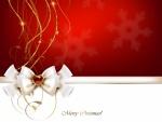 Un hermoso lazo con un mensaje navideño
