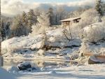 Un paisaje invernal espectacular