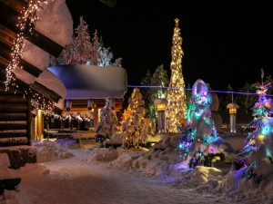 Postal: Esperando la Navidad en Finlandia