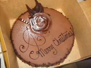 Tarta de chocolate para comer en Navidad