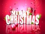 Grandes letras de Feliz Navidad