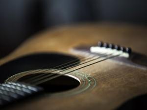 Las cuerdas de una guitarra