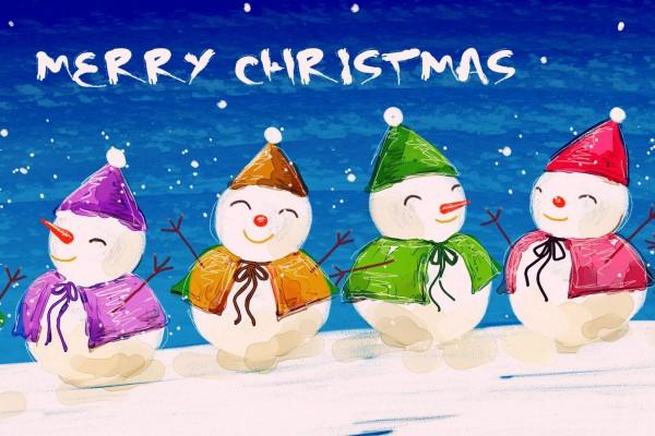 """Muñecos de nieve navideños te desean """"Feliz Navidad"""""""