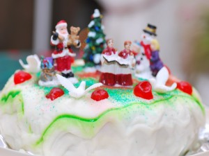 Postal: Tarta navideña