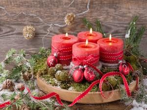 Encantador arreglo navideño