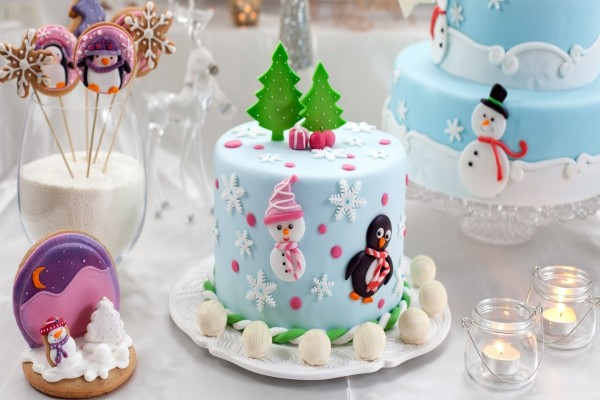 Tartas y galletas con temática navideña