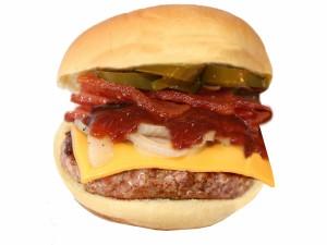 Una sabrosa hamburguesa