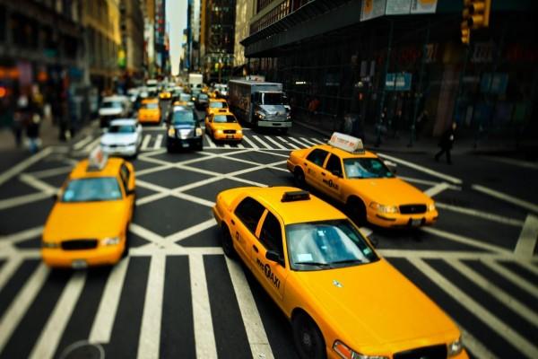 Taxis en la ciudad de Nueva York