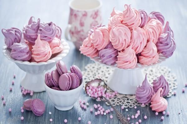 Unos ricos macarons y merengues
