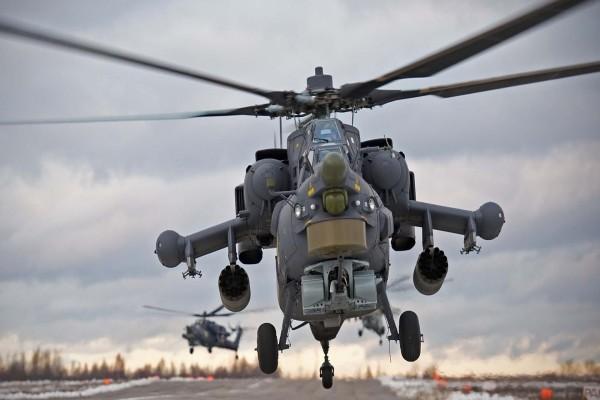 Helicópteros aterrizando