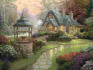 "Postal: Un pintura de ""Thomas Kinkade"""