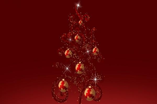 Brillante árbol de Navidad