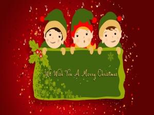 Postal: Les deseamos una Feliz Navidad