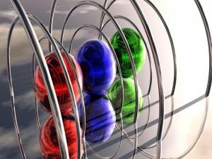 Esferas bajo aros de metal
