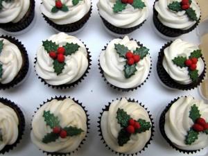 Postal: Cupcakes para comer en Navidad