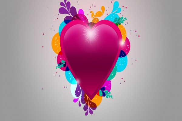 Vibrante corazón fucsia