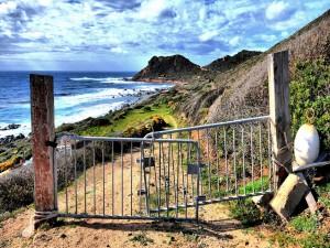 Prohibido el paso a la zona costera
