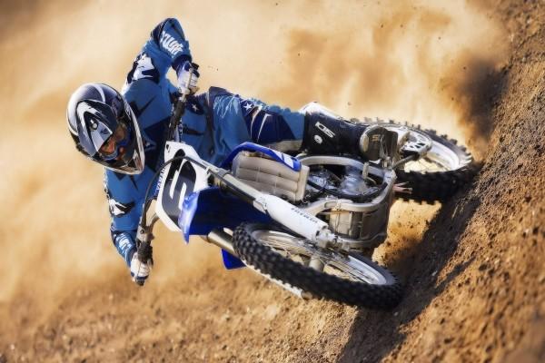 Motocross en una Yamaha