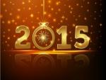 Año Nuevo 2015 en números dorados