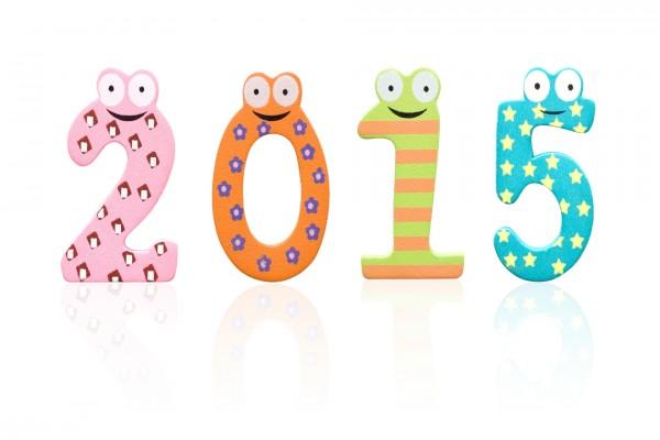 """Originales números para celebrar el """"Nuevo Año 2015"""""""