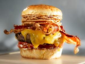 Una suculenta hamburguesa