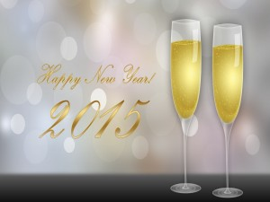 Postal: ¡Brindis y Feliz Año 2015!