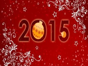 """Postal: Un navideño """"Año Nuevo 2015"""""""