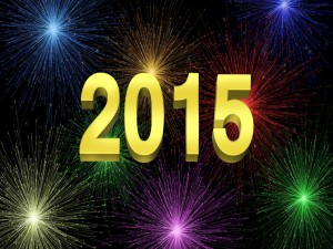 """Postal: Fuegos artificiales para festejar el """"Nuevo Año 2015"""""""