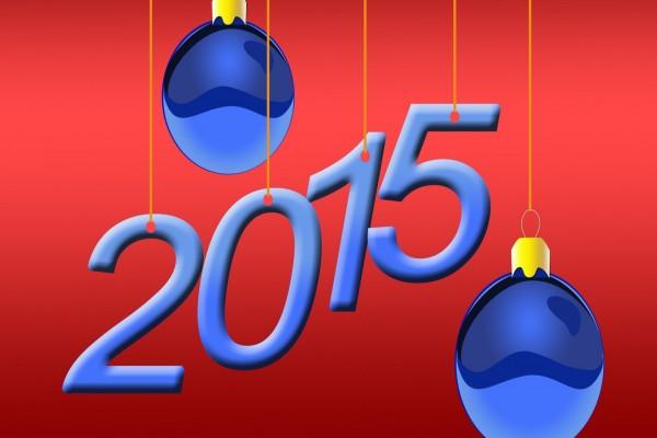 ¡Feliz Año Nuevo 2015! con adornos navideños