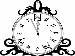 Reloj y Feliz Año Nuevo