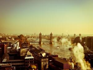 Postal: Vista de la ciudad de Londres
