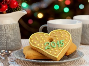 Postal: Galletas para el Año Nuevo 2015