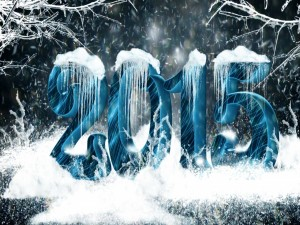 Postal: Año 2015 en la nieve