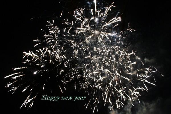Fuegos artificiales y Happy New Year