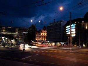 Noche en alguna ciudad Suiza