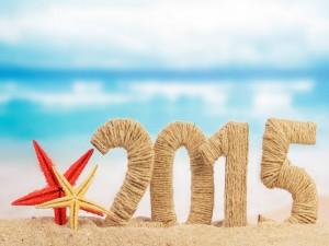 Postal: 2015 en una playa