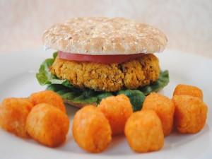 Postal: Hamburguesa vegana