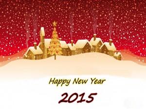 Postal de Feliz Año Nuevo 2015