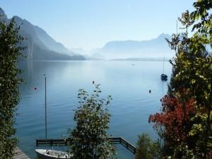Barcas en un lago