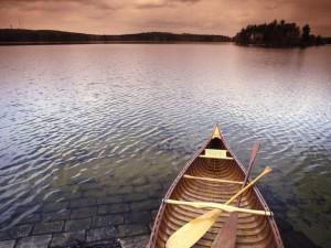 Postal: Remos sobre la barca