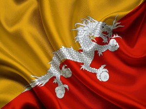 Postal: Bandera de Bután