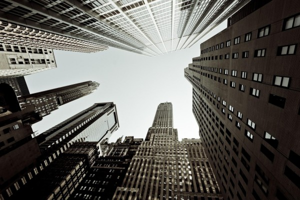 Grandes edificios de una ciudad