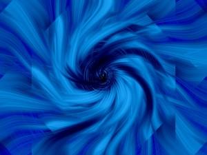 Postal: Espiral azul