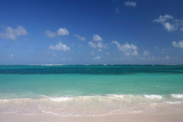 Mar visto desde la playa