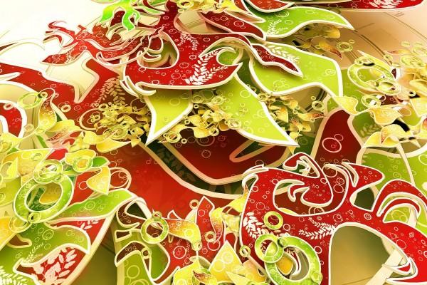 Imagen con elementos digitales en 3D