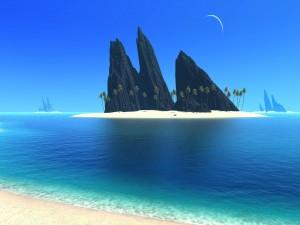 Postal: Islas en un mundo de fantasía