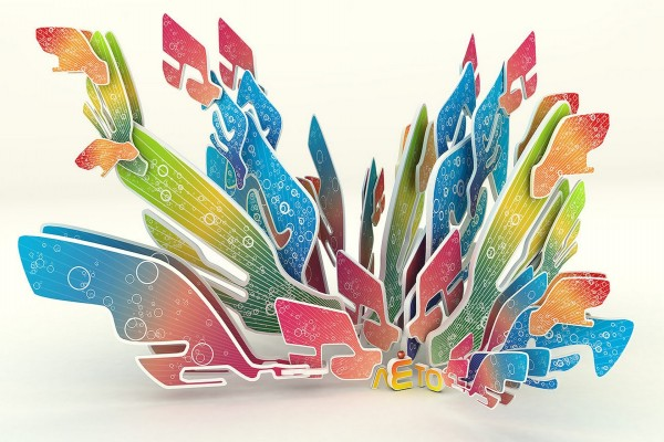 Figuras de colores en 3D