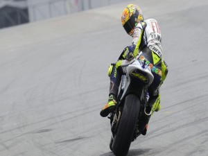 Valentino Rossi sobre una Yamaha