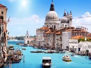 Postal: Bello paisaje de Venecia