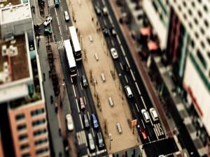 Postal: Vista de una calle en alguna ciudad